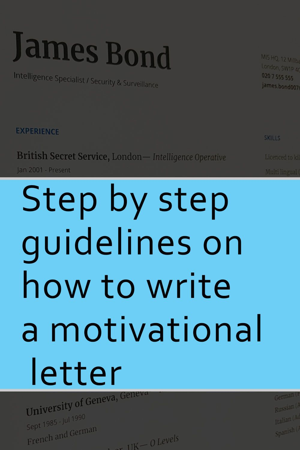 step by step guidelines on how to write a motivational