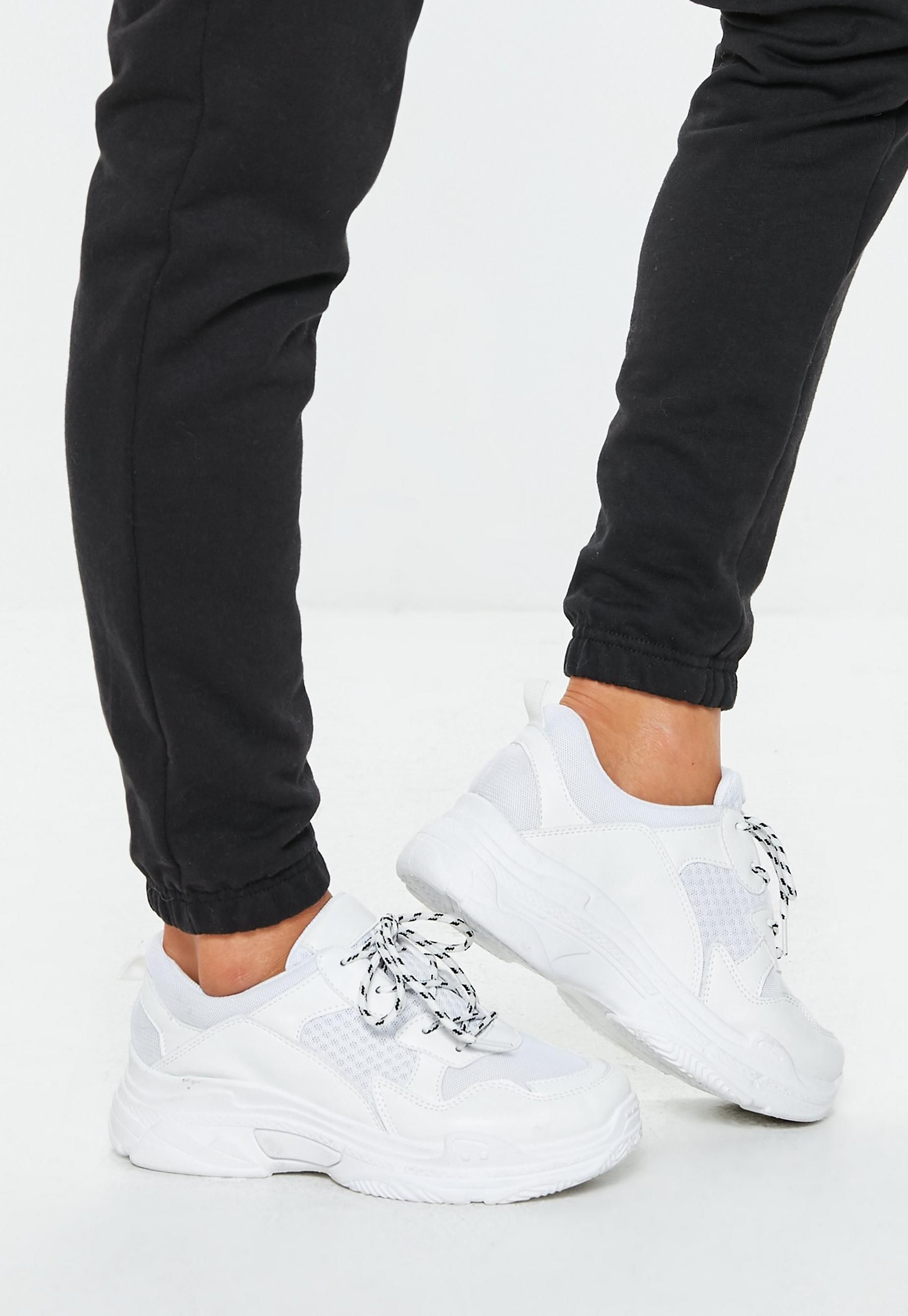 White Chunky Sneakers | Missguided