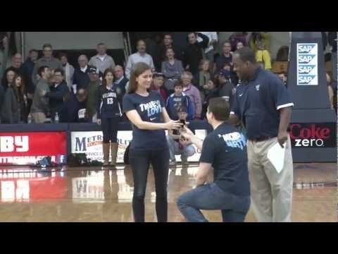 Our Proposal Matt 04 Proposing To Jenn 04 Center Court At The