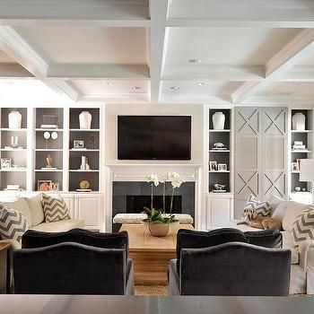 Beautiful Built In Wall Cabinets Living Room
