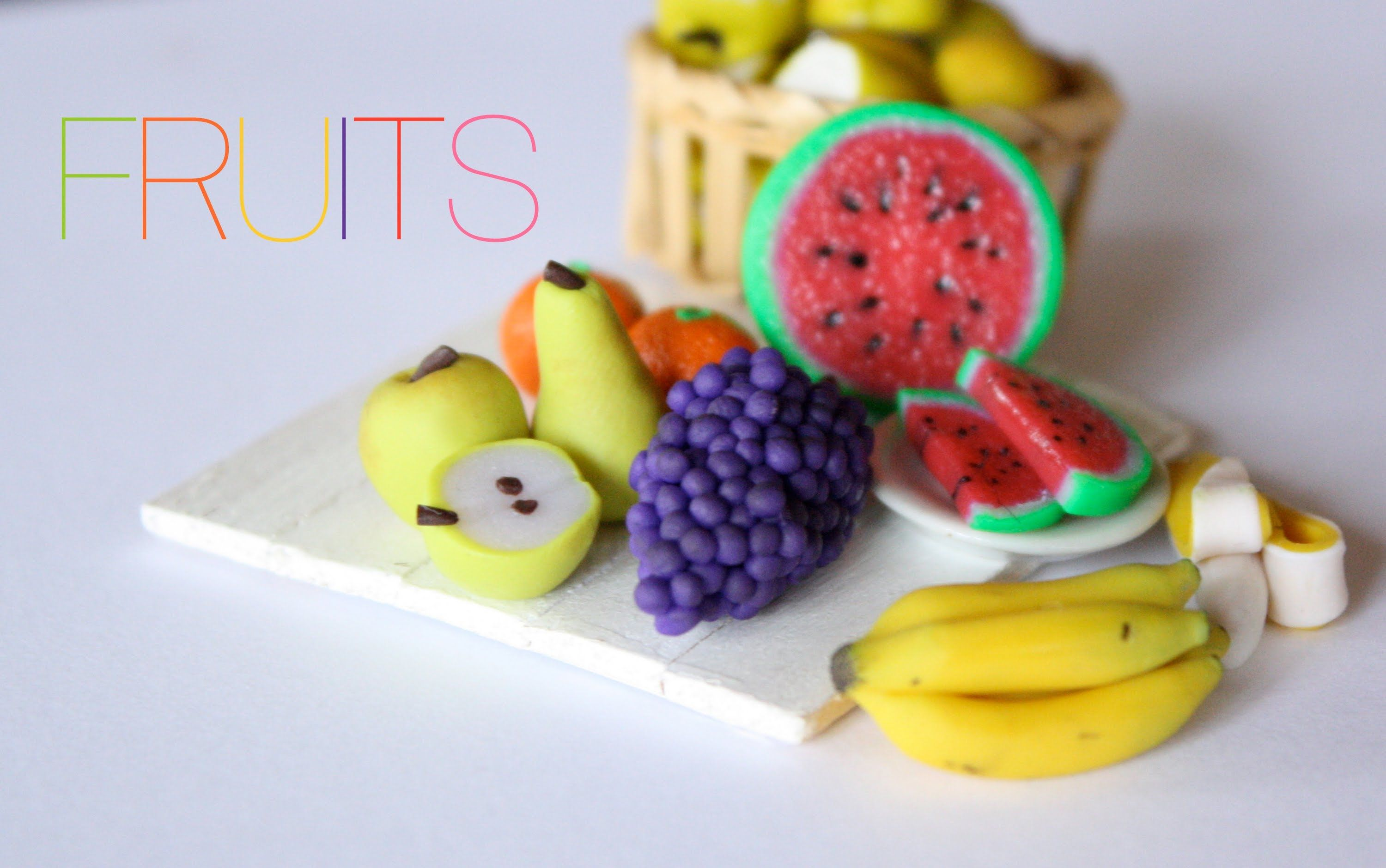 Fruit Bananas Watermelon Apples Pears Oranges & Grapes in
