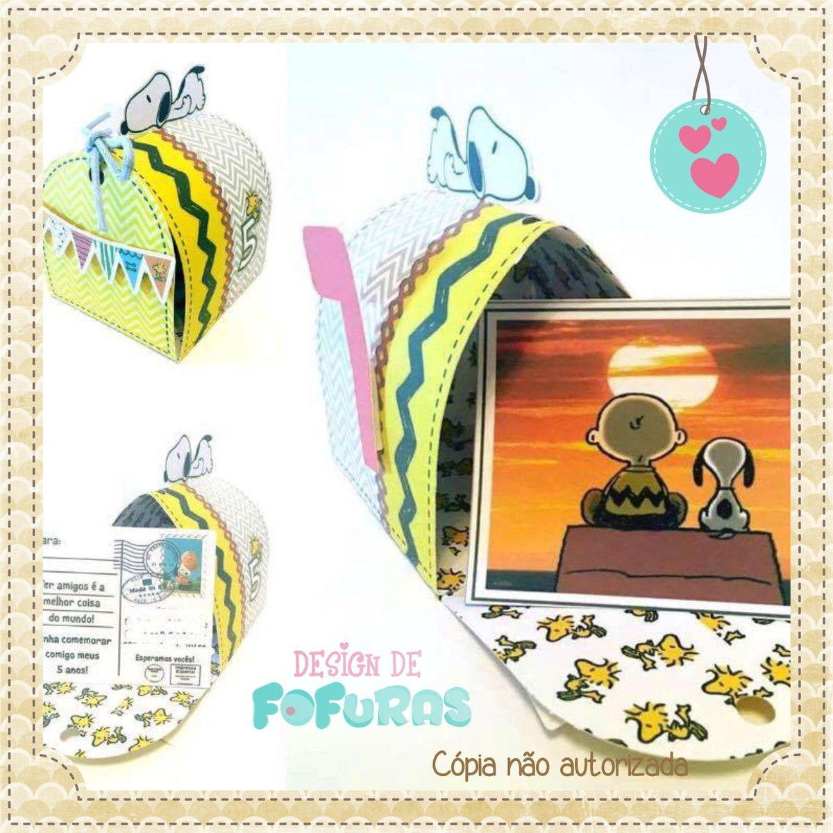 Convite Snoopy Caixa de Correios