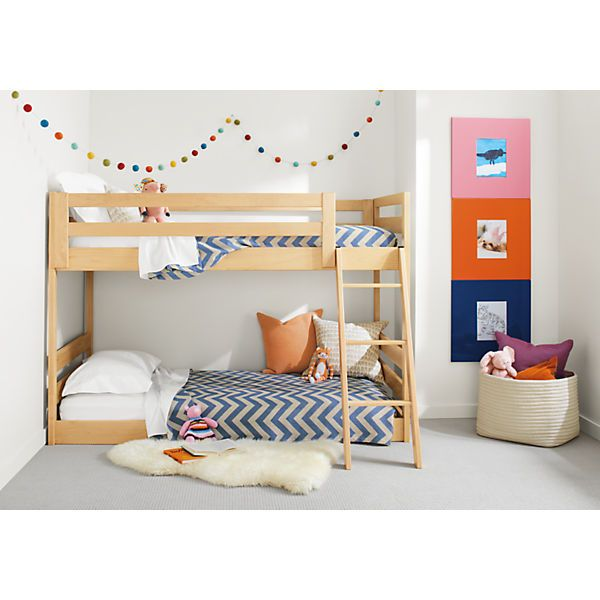 "Cool Dimensions 43""w 78""d 55""h Mattress Space 2 75""w 39""d Clearance Between Bunks 32""h 43""w 78""d 55""h Waverly Kids Mini Wood Bunk Bed Modern Bunks Photo - Style Of bunk bed furniture New"