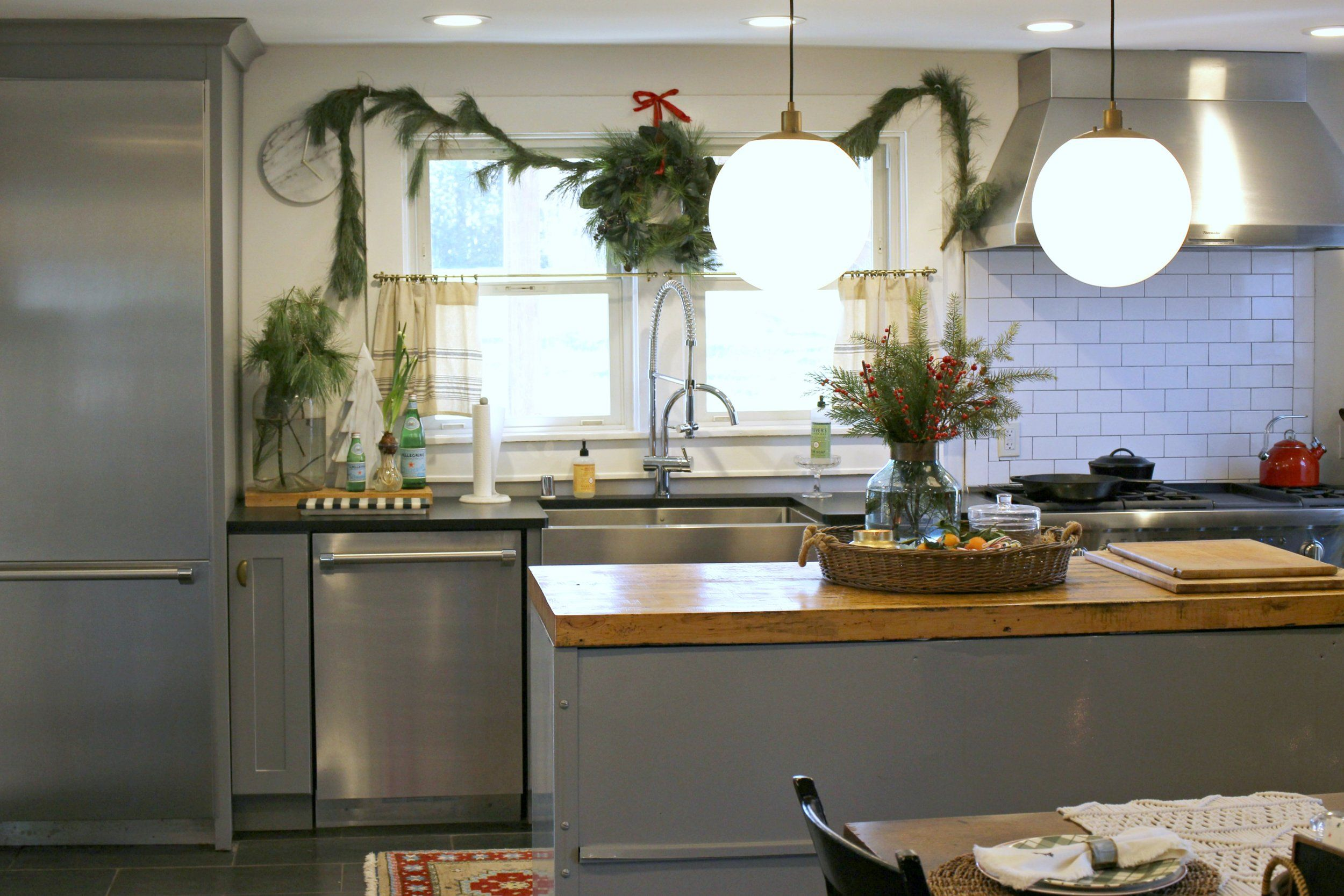 Vintage Christmas Farmhouse Kitchen Gathered Living