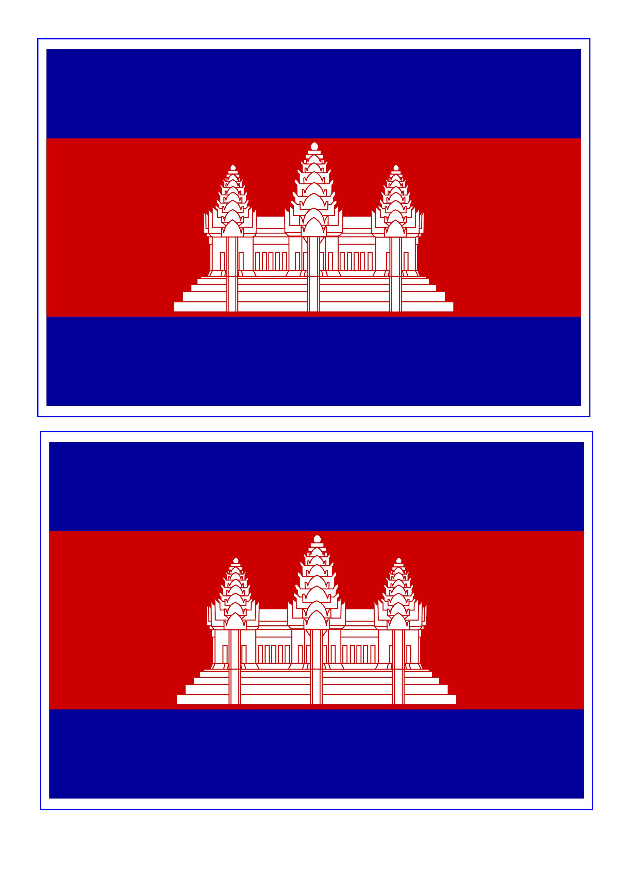 Cambodia Flag  Free Printable Cambodia Flag  templates