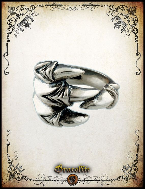 Dragon claw ring Force gothic sterling silver 925 by Dracolite, $120.00