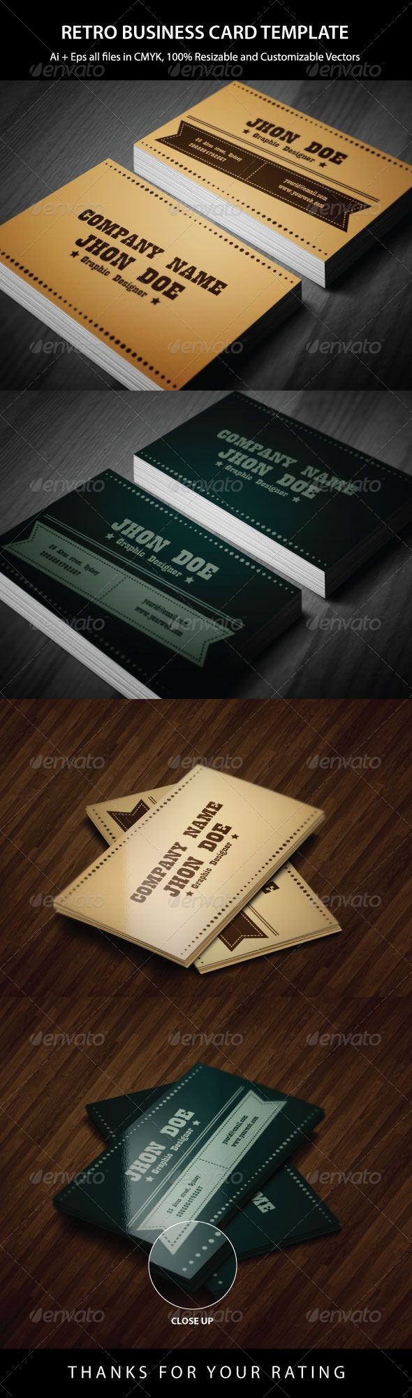 Exclusive Retro Business Card Retro Business Card Vintage Business Cards Personal Business Cards Design