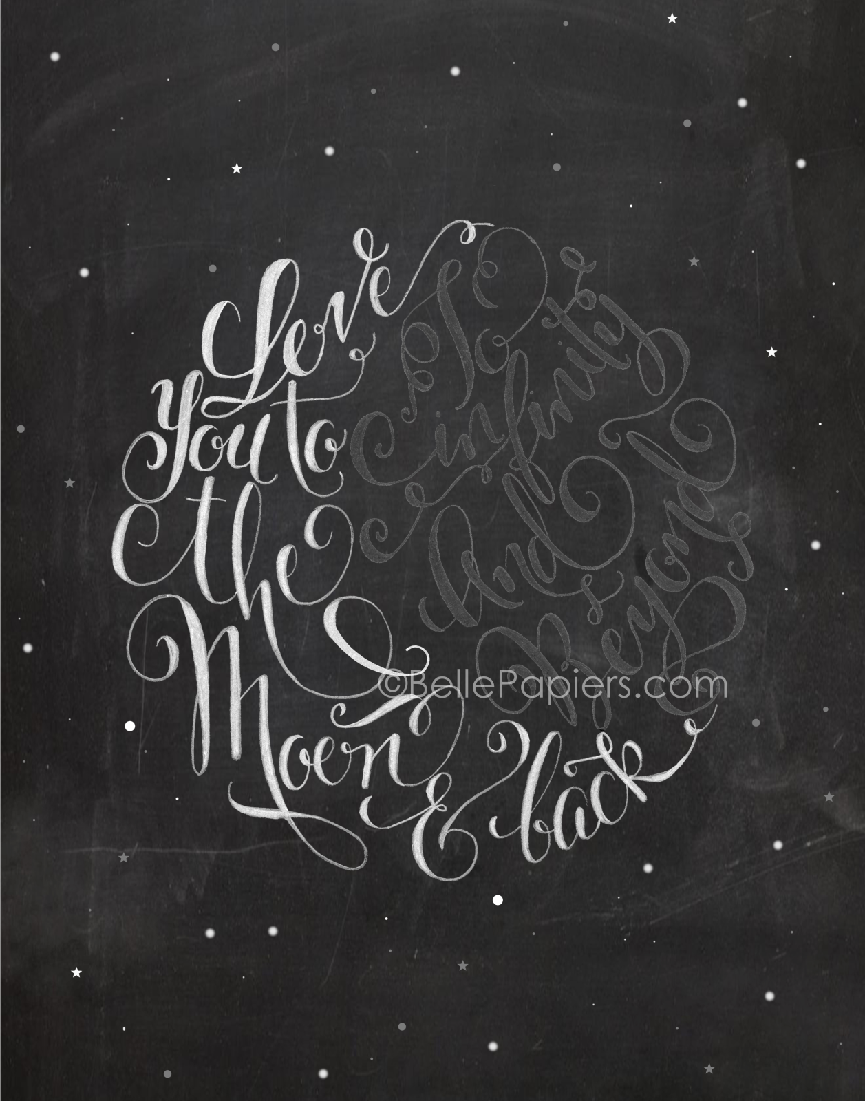 I Love You To The Moon And Back Wall Art i love you to the moon and back to infinity and beyond calligraphy