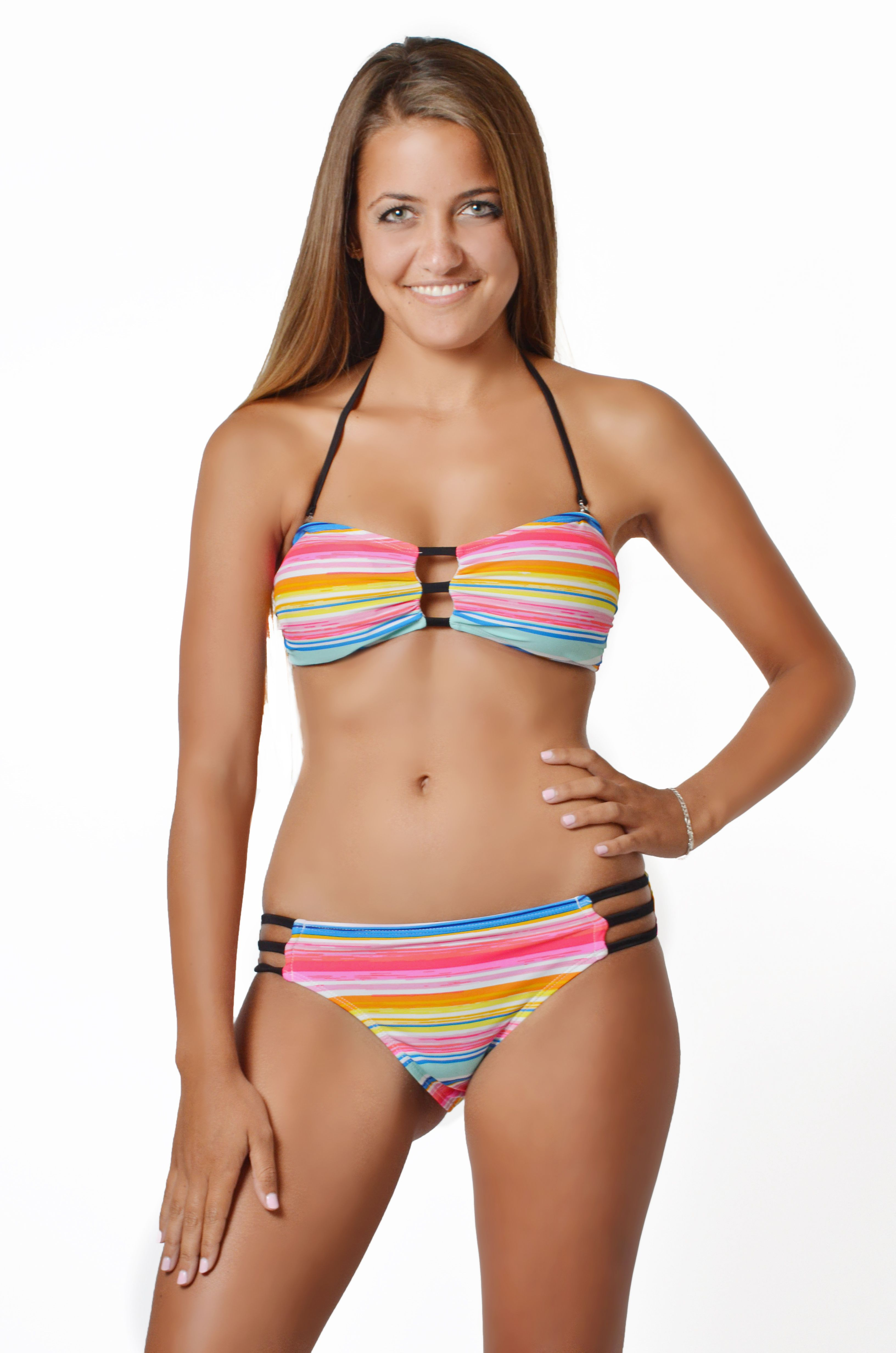 574adb9c8e8e 2014 Sun Stripe #winkiswim #bikini #neon #stripe #bathingsuit #model #swim # swimwear