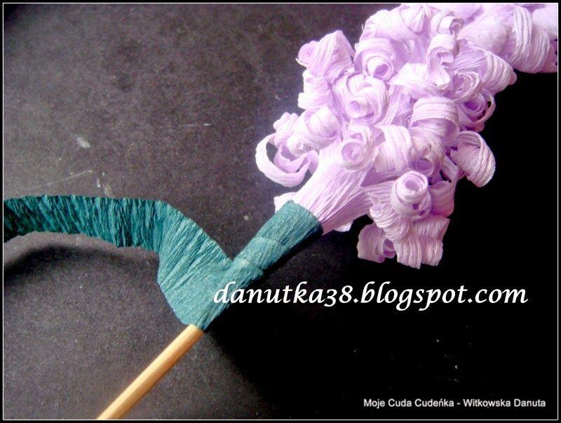 Moje Cuda Cudenka Jak Zrobic Kwiaty A La Hiacynty Z Krepiny Lub Bibuly Kurs Tutorial Hair Accessories Diy Bobby Pins