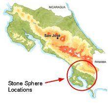 map location stone spheres | sphere locations in costa rica | Costa ...