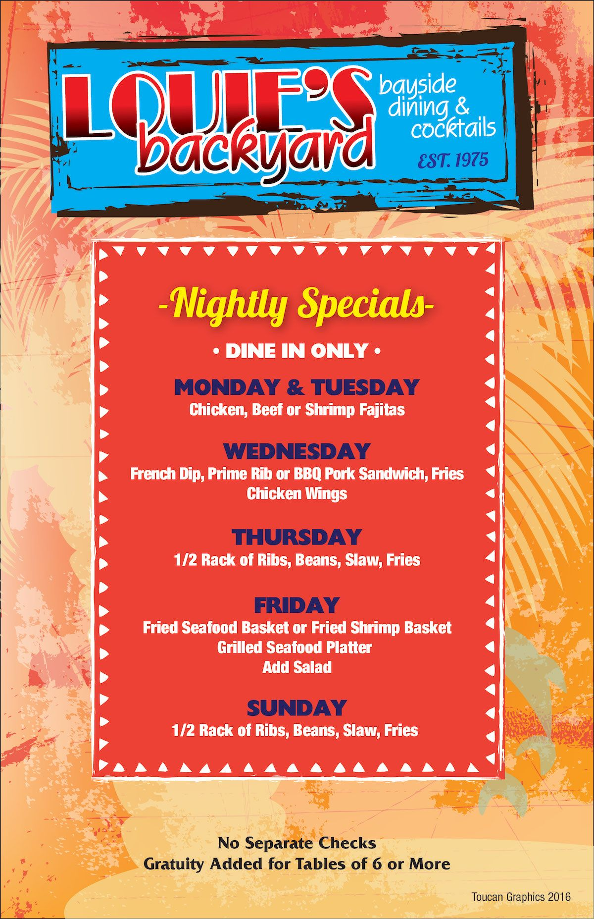 Louie S Sports Bar Menu 1 Eat Upstairs Backyard Backyard Grilling Backyard Bar