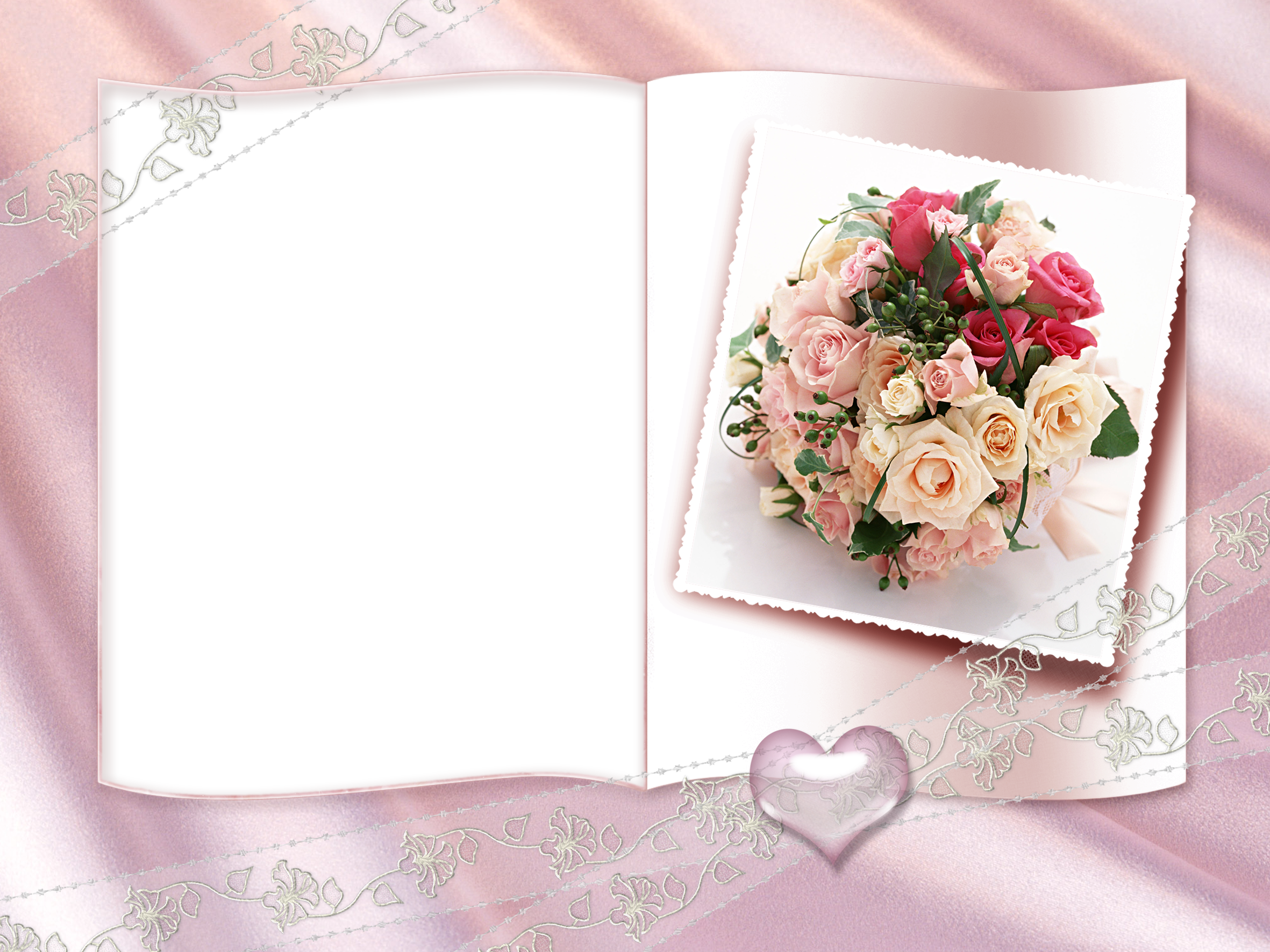 pink wedding transparent frame