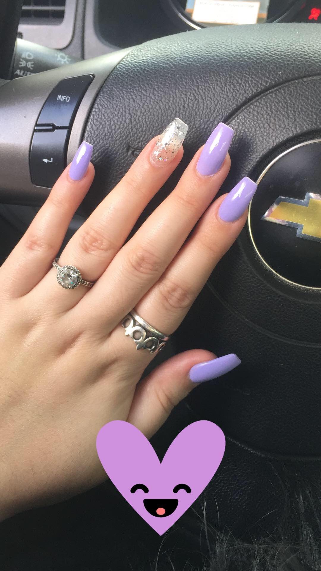 Light Purple Nails Purple Acrylic Nails Light Purple Nails Purple Nail Designs