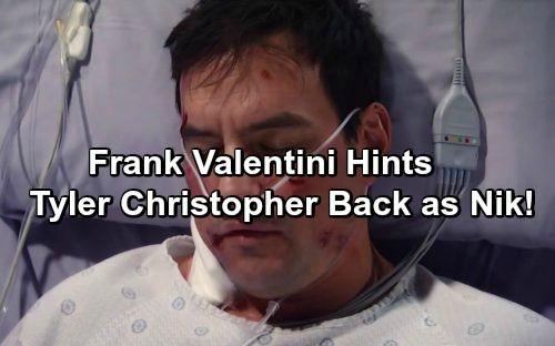 General Hospital Spoilers Frank Valentini Sweeps Shocker Hints Tyler Christopher S Return As Nikolas Cassadine General Hospital Spoilers General Hospital Soap News