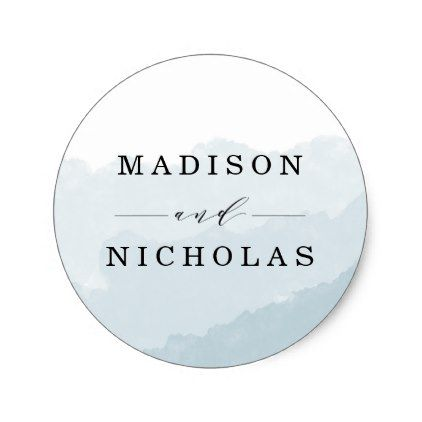Watercolor Mist Wedding Favor Stickers Favors, Wedding stickers