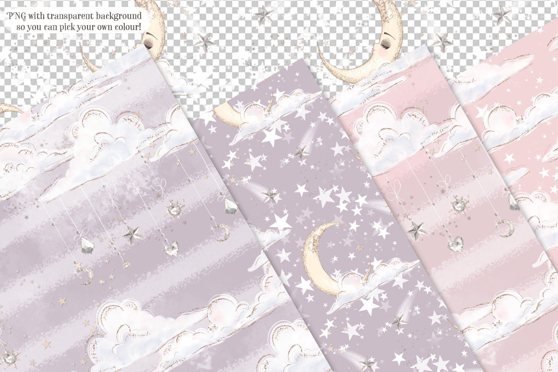 Little Angels Seamless Patterns in 2020 Seamless
