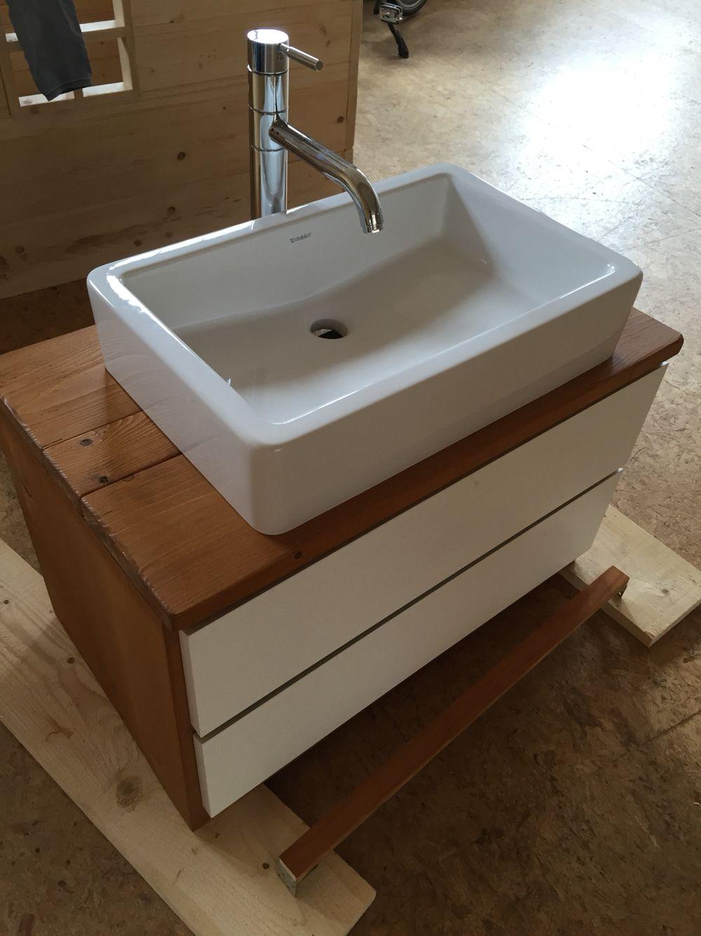 badkamermeubel gemaakt van steigerhout icm gebruikte ikea lades gebruikte losse wasbak en. Black Bedroom Furniture Sets. Home Design Ideas