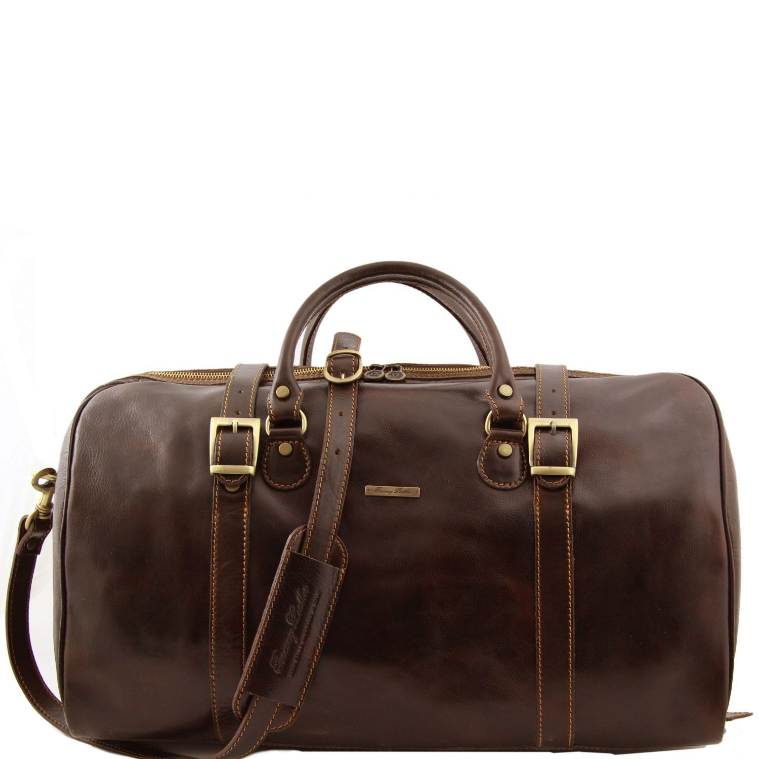 c896a4604295 Tuscany Leather Berlin Travel leather duffle bag Large size Dark Brown  TL1013 5     To view further for this item
