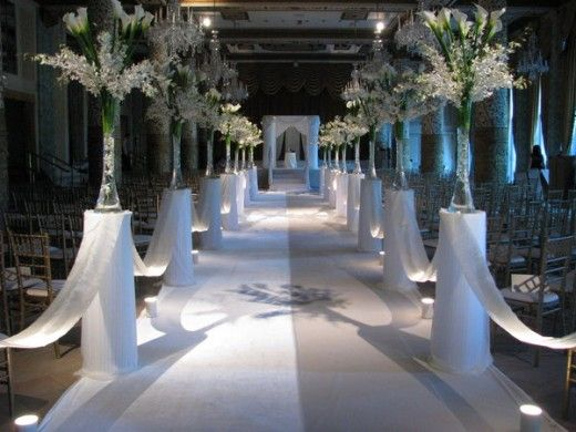 I like the defined aisle Maybe candles instead of the flowers