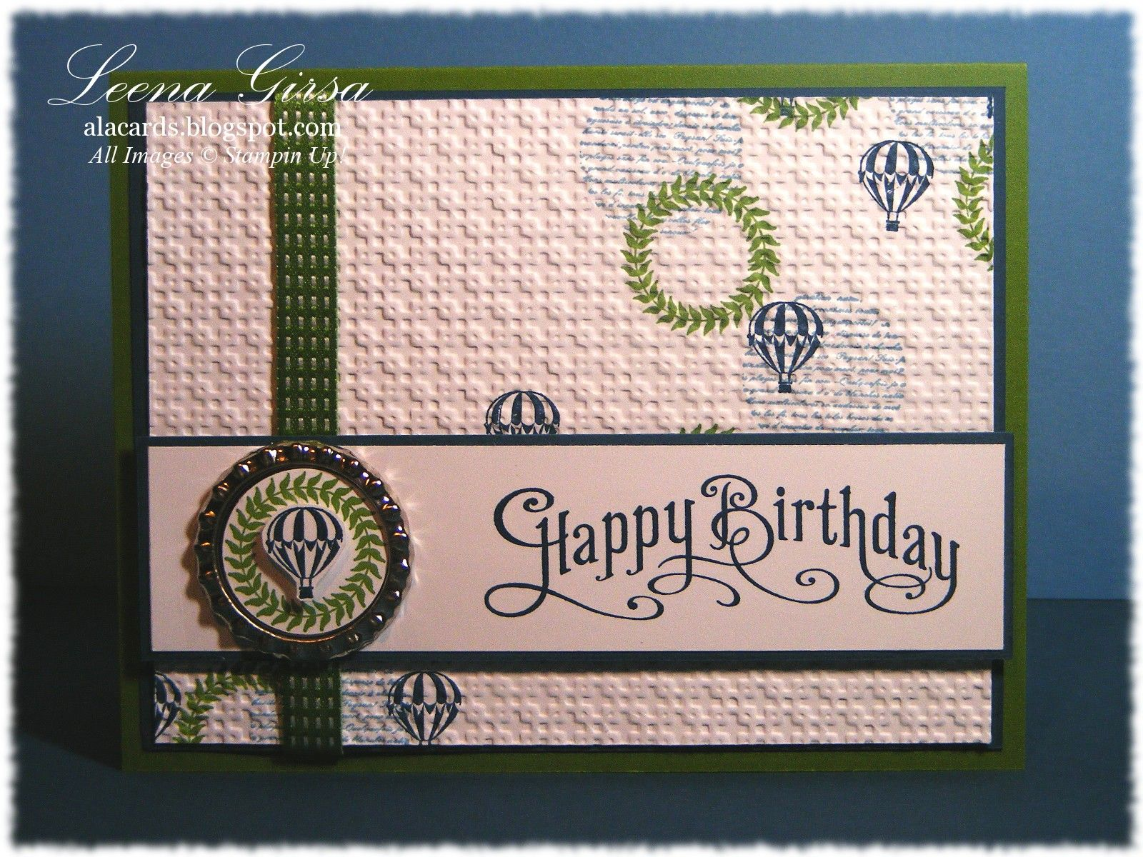 A La Cards Masculine Birthday Card Featuring Collage Curios And