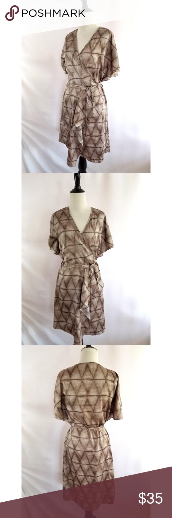 6f54a9fe30f BCBGMAXAZRIA Size XS Wrap Dress Taupe Gray Item specifics  BCBG Max Azria  Size XS 100