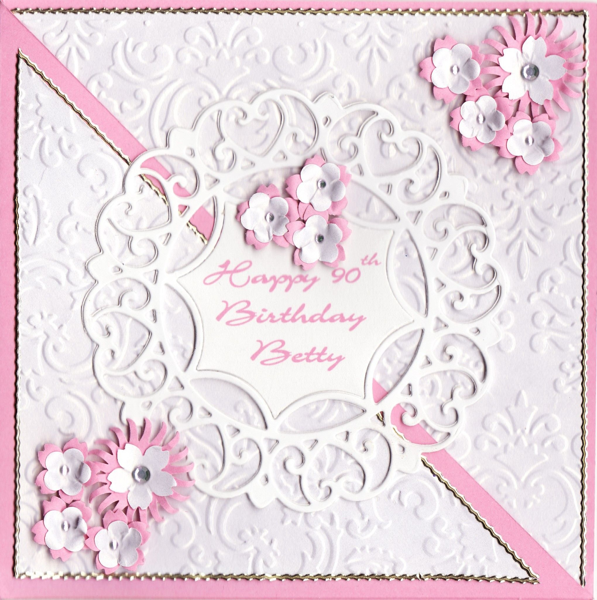 Happy 90th Birthday Betty Card greeting cards✏