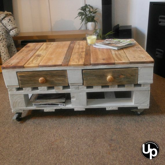 Shabby Chic Pallet Coffee Table Rustic by urbanpallets247 on Etsy