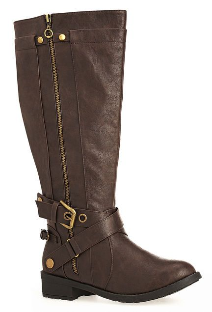 d60e23c270c Evelyn Zip Detail Riding Boot (Wide Wide)-Extra Wide Width Boots-Avenue