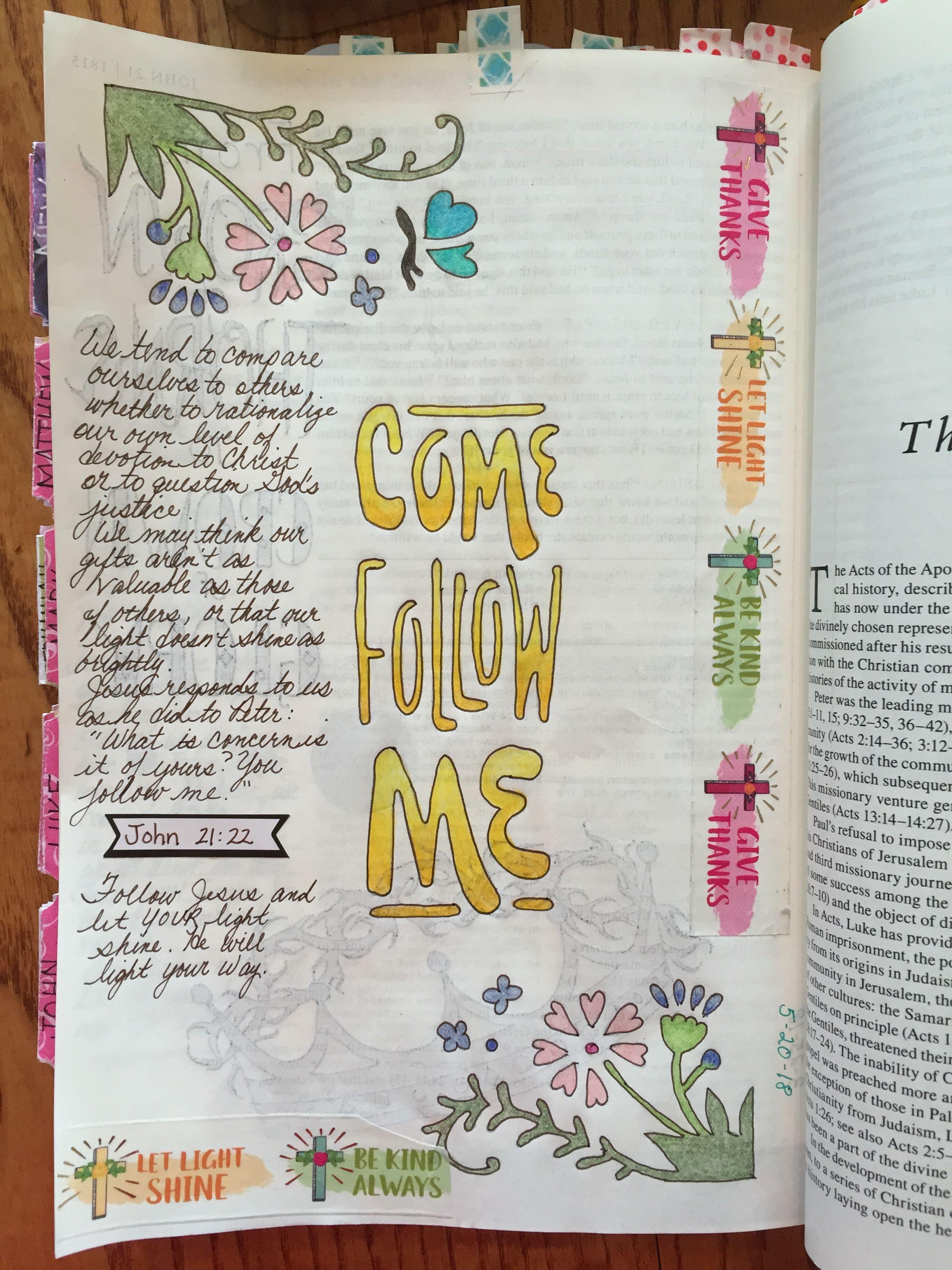 John 21 22 bible journaling Bible journal John