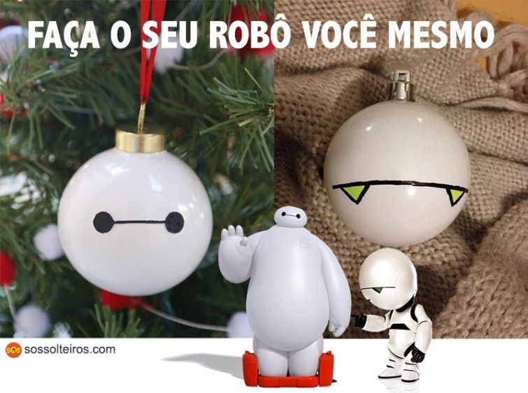 ornamento natal robo baymax marvin