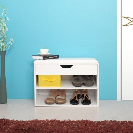 Elegant Entry Hall Bench Shoe Storage