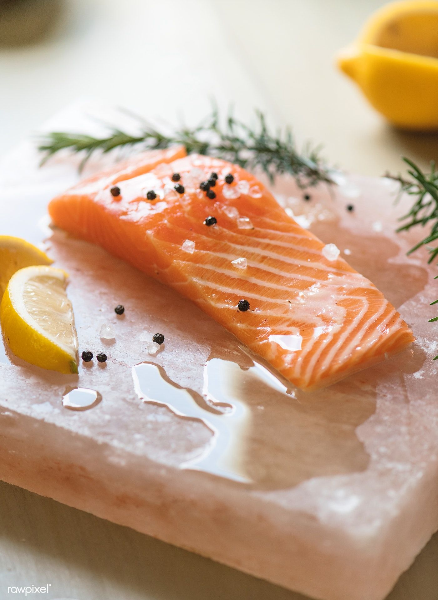 Download premium photo of Fresh salmon with thyme food