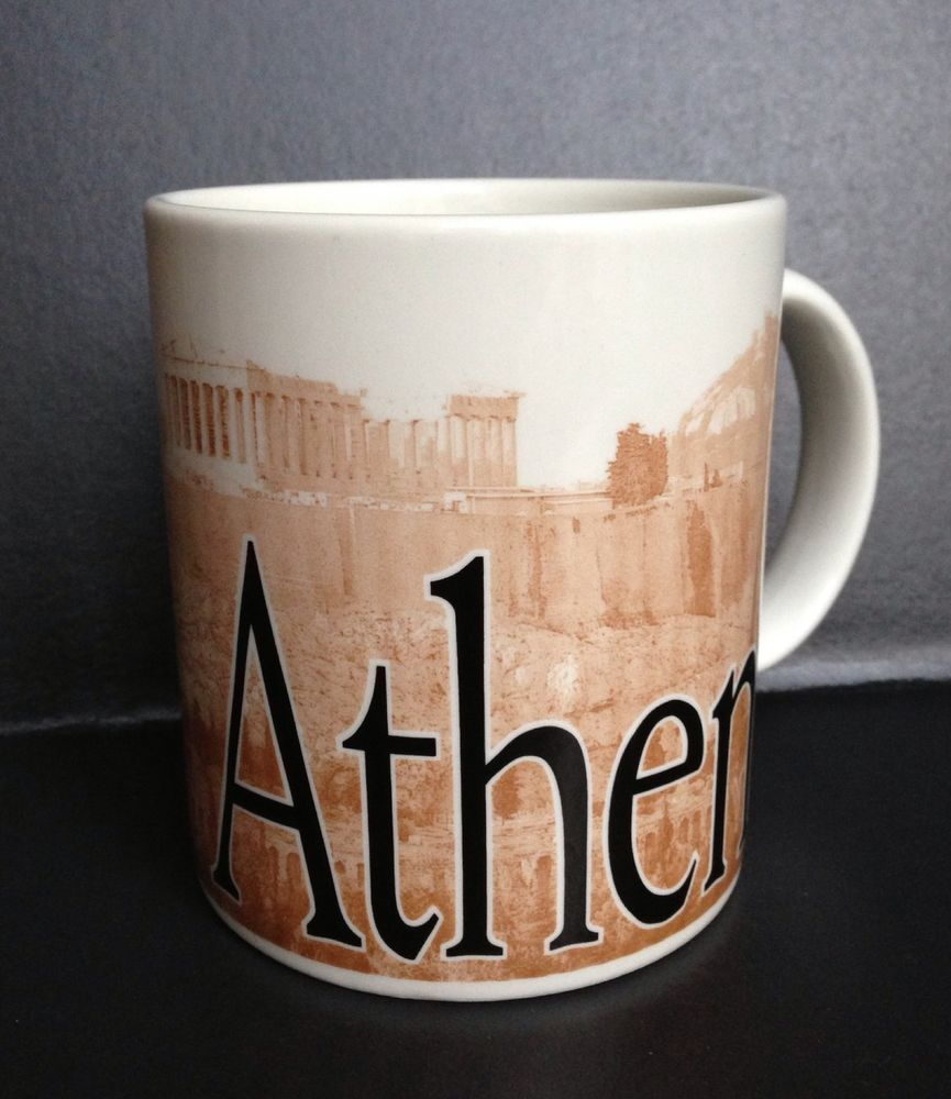 ATHENS GREECE Starbucks City Mug Collectors 2002 Series Made In England Coffee #Starbucks