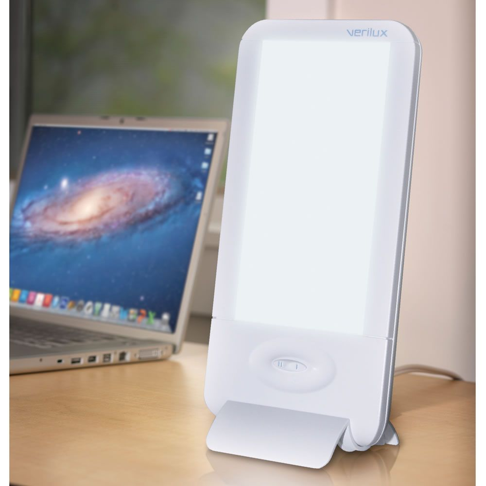 The Desktop Light Therapy Lamp Hammacher Schlemmer Light Therapy Lamps Therapy Lamp Light Therapy