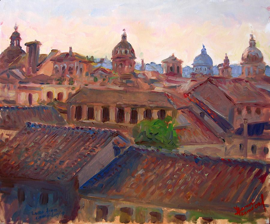 Рим видел из живописи Капитолий на Илли Haruni