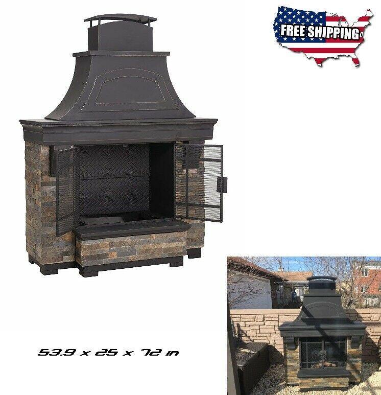 Outdoor Fireplace Kits Large Wood Burning Steel Chiminea Patio
