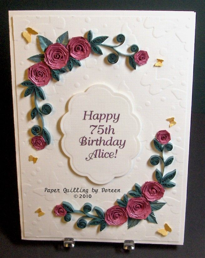 Creative Paper Quilling By Doreen Birthday Cards For A Couple Of