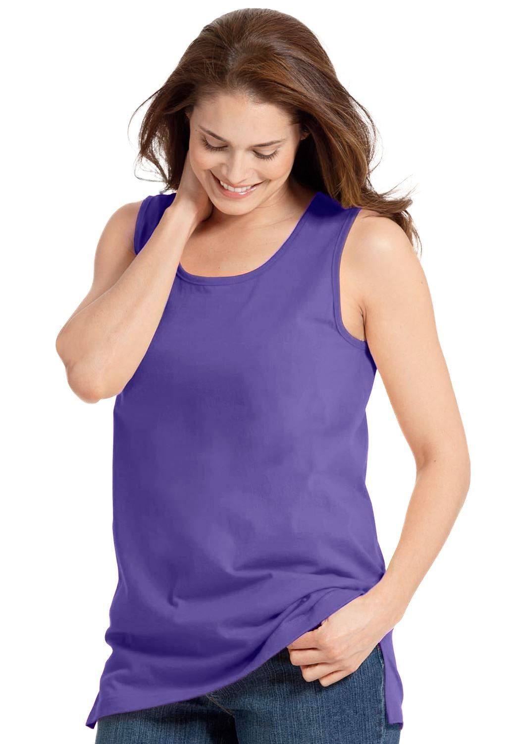 b5f724ac59c38 Plus Size Woman Within® Perfect Tank Top Now   11.99