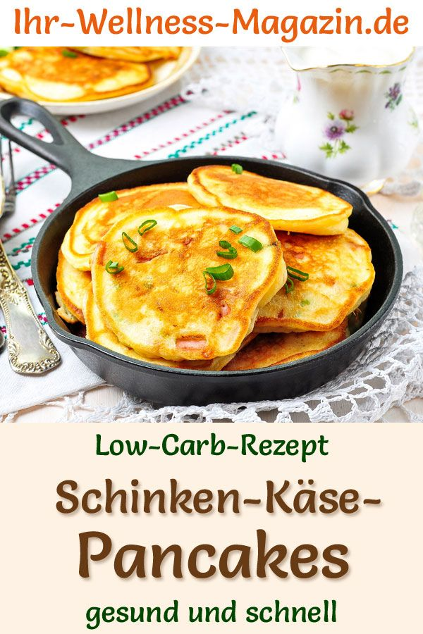 Oster-Brunch: Schinken-Käse-Pancakes - schnelles Low-Carb-Rezept