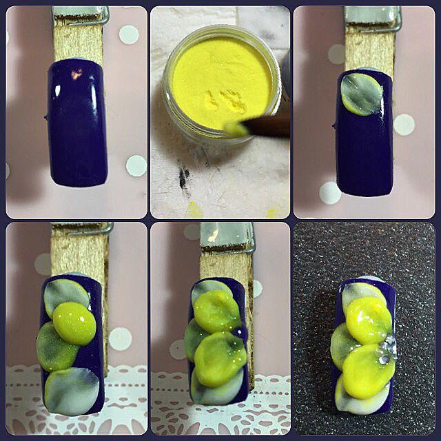 Nail Art Tutorial How To Make 3d Acrylic Flower Acrylic Nail Art