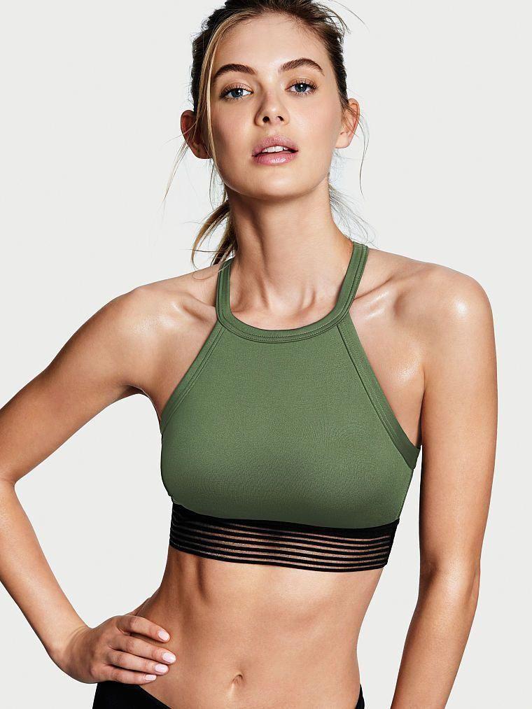 High-neck Keyhole Sport Bra Workout Clothes | Yoga Tops | Sports Bra | Yoga Pants | Motivation is he...