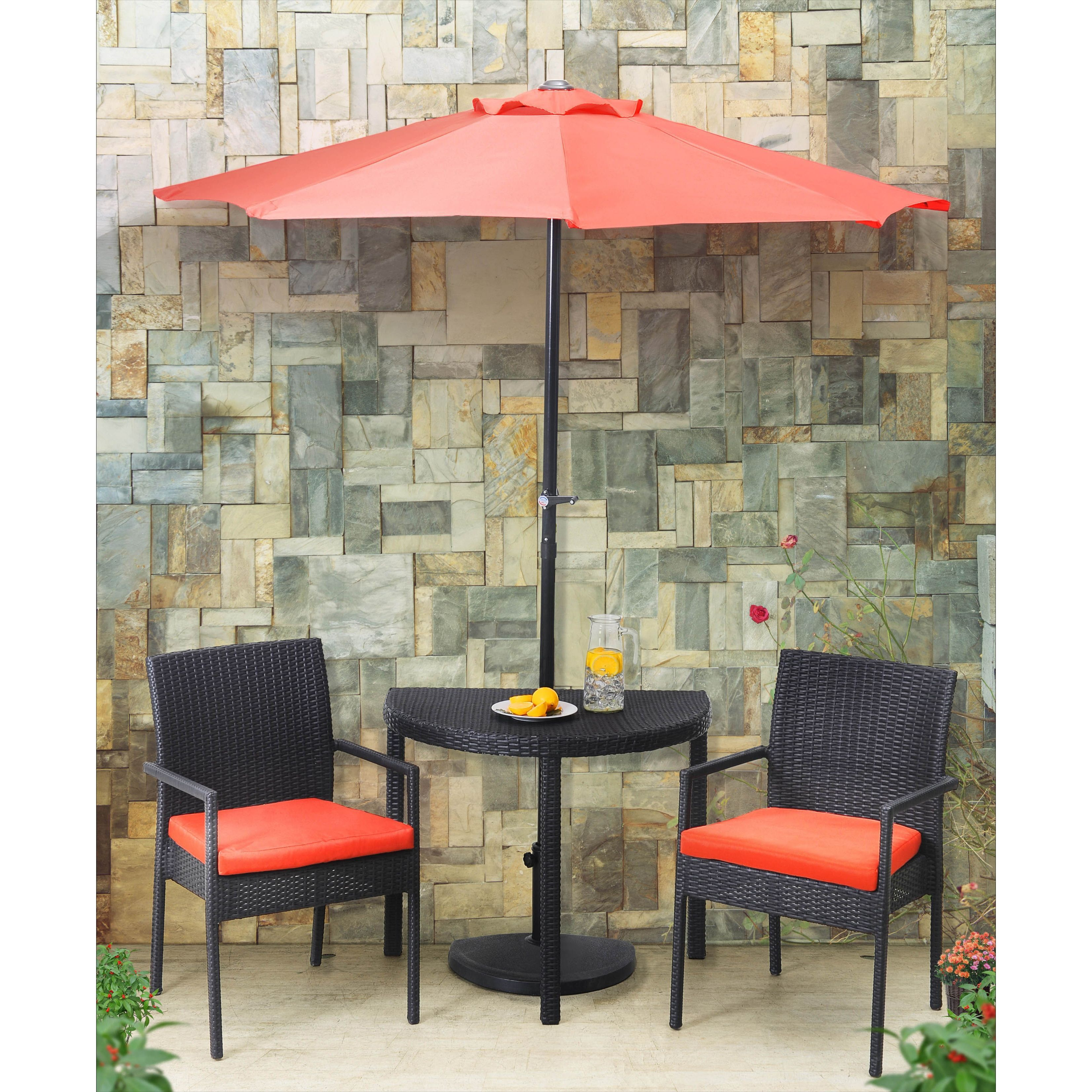 Sunjoy Half Rd Balcony Set Blue Black Size 3 Piece Sets Patio