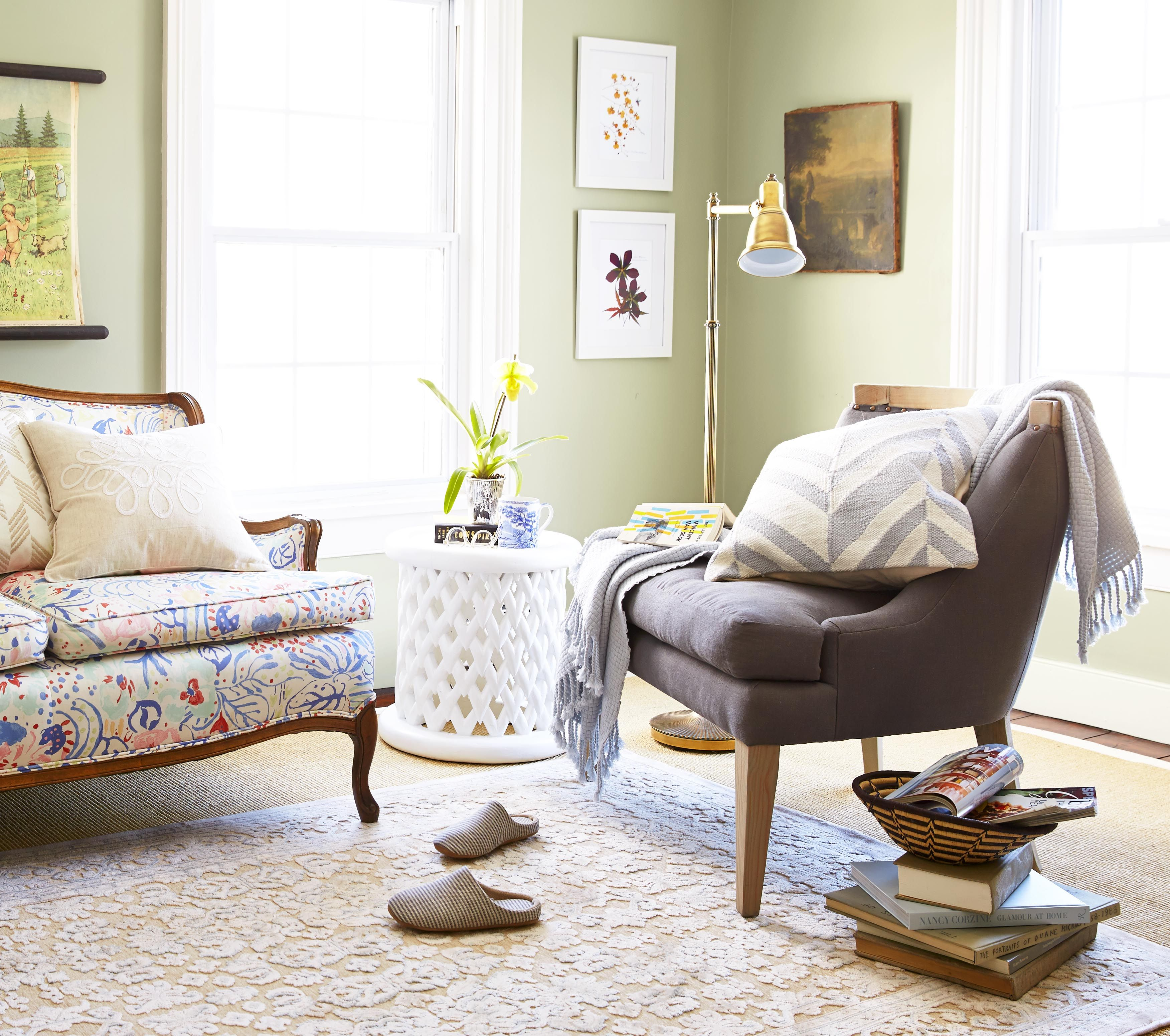 The hallmark of a grown-up bedroom? A comfortable place to read ...