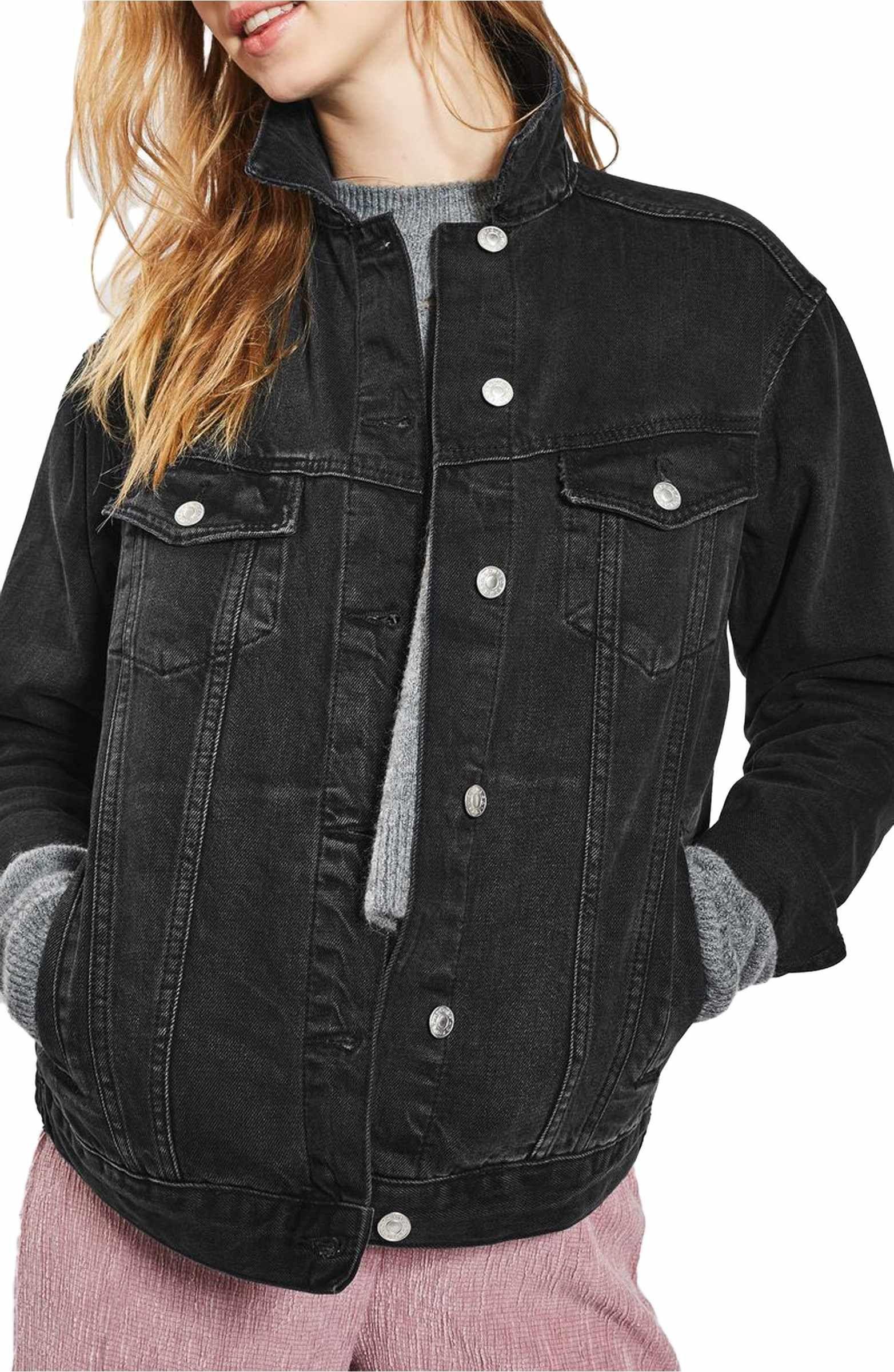 Topshop Oversize Denim Jacket Oversized Denim Jacket Oversized Black Denim Jacket Denim Fashion