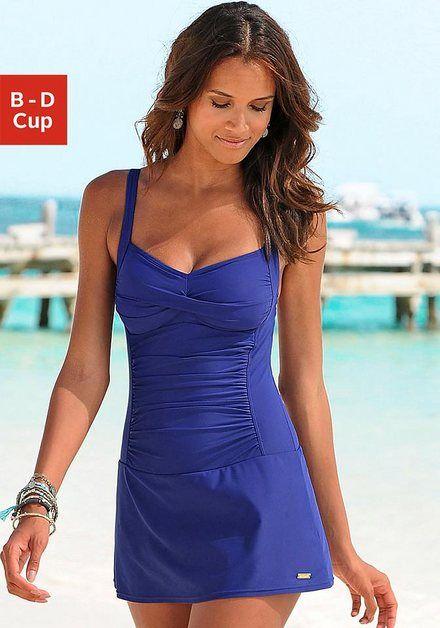LASCANA Badekleid, mit modischen Raffungen kaufen | OTTO – Swimsuit