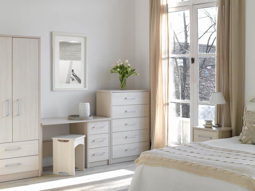Premium Cream with White Avola Range | Wood bedroom, Home ...