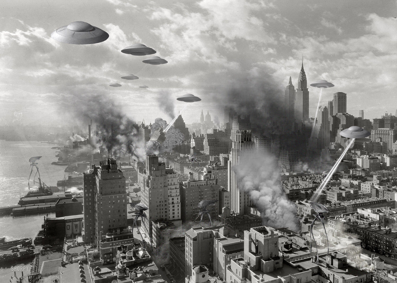 Alien invasion NY 1930 s Science Fiction Pinterest