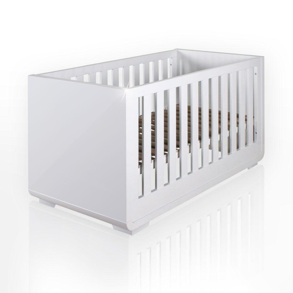 Babybett aus der Serie Yves hochglanz 60cm x 120cm Baby Möbel ...