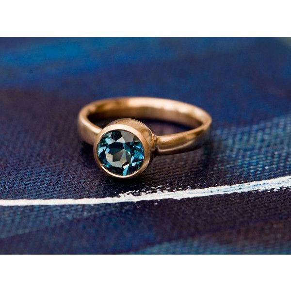 William White London Blue Topaz Rose Gold Ring $1 105 ❤ liked